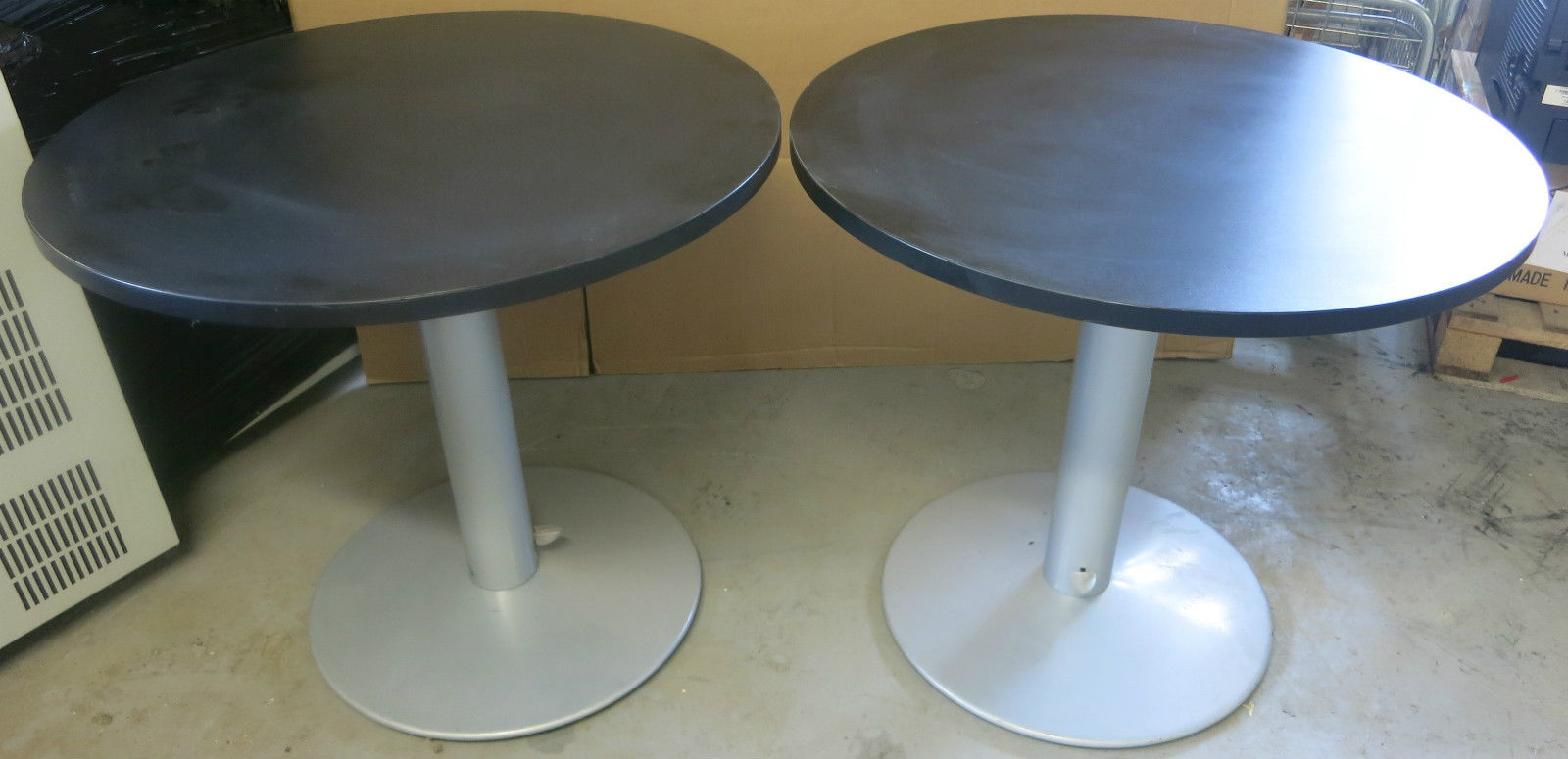 2x black 800mm height adjustable 720mm 1130mm circular Home Office Furniture Collections Home Office Furniture Desks