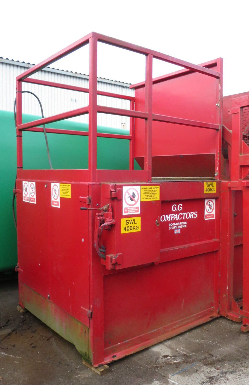 Garbage gorger ggs3 157 yard static bin lift rubbish waste Garbage compactor