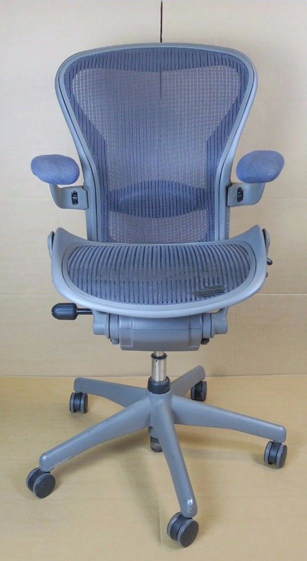 herman miller aeron medium b size office swivel chair adjustable