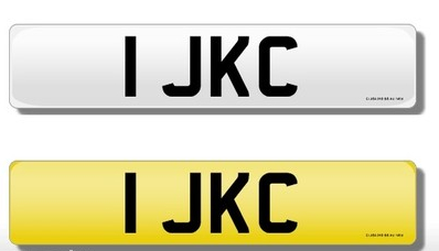 1 JKC Private Registration Number Reg Registration Cherished Ref Plate for sale