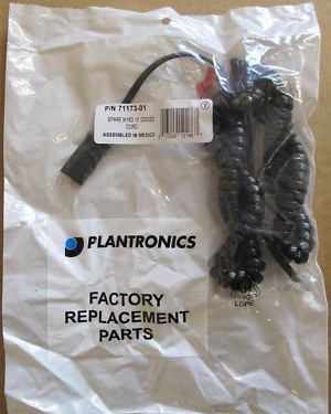 10 x Plantronics Coiled Lead For M15D Vista - 71173-01