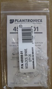 10 x Plantronics Modlocs Packs Of 25 45588-01