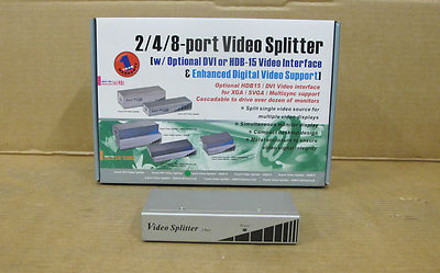 2 Port Video Splitter HDB15 Basic Desktop Console