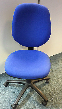 2x Herman Miller RX112N Blue Medium Back Operator Swivel Office Chairs