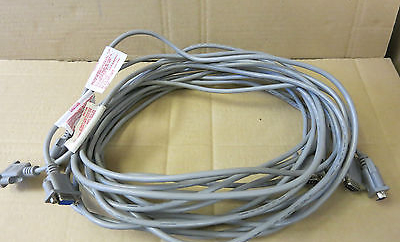 3 x AWM E139956 Type CL2 KVM Computer Cable Grey - LL84201