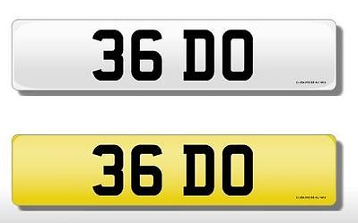 36 DO Vehicle Private Car Bike Number Registration Cherished Dateless Plate DO
