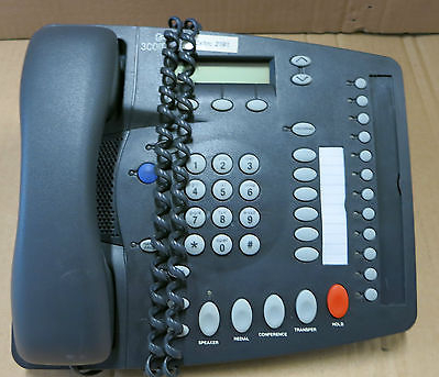 3COM 1102 3C10121 / 655-0008-03 Black 18 Button Display With Handset And Stand