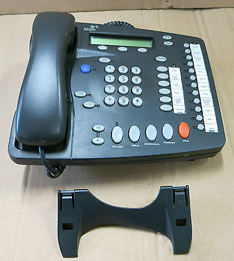 3Com NBX 2102 3C10226PE Business Phone Charcoal Gray With Handset And Stand