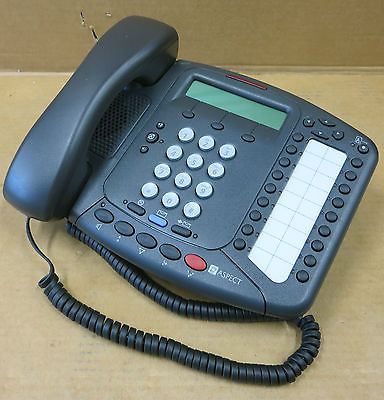 3Com NBX 3102 3C10402A Business Phone Charcoal Gray With Handset And Stand
