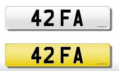 42 FA Vehicle Private Car Bike Number Registration Cherished Dateless Plate FA