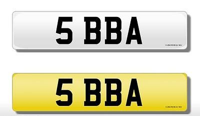 5 BBA Vehicle Private Car Bike Number Registration Cherished Dateless Plate BBA