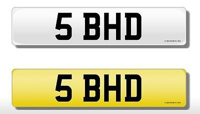 5 BHD Vehicle Private Car Bike Number Registration Cherished Dateless Plate BHD