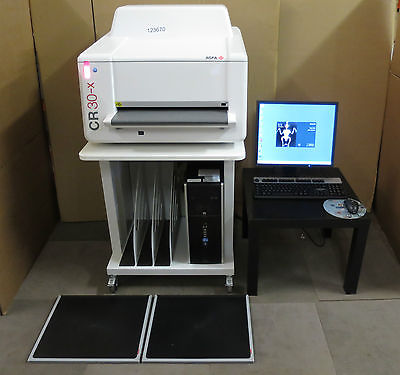 AGFA CR 30-X CR Table Top X-ray Digitizer System Radiology Reading Veterinary