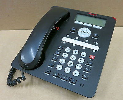 "Avaya 1608-1 Black LCD VoIP IP 3.5"" LCD Backlight Phone Telephone - 700458532"