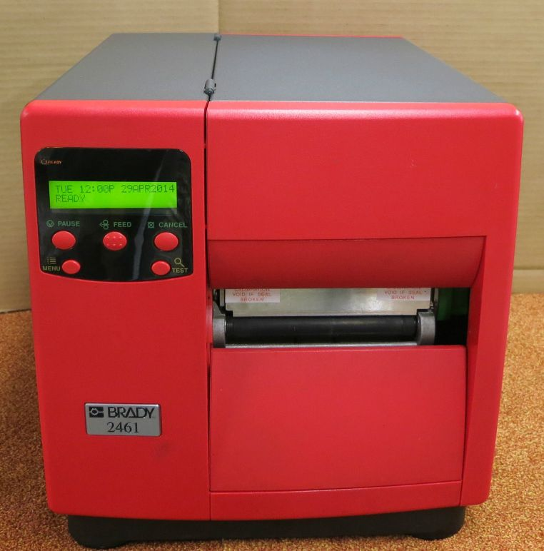 Brady 2461 Thermal Label Printer DMX-I-4208 RED With Labels