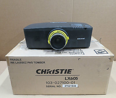 Christie LX605 3-LCD XGA Projector 6000 lumens for medium to large presentations