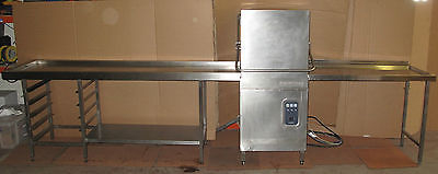 Comenda LC 1200 BT Pass Through Dishwasher with Inlet & Oulet Tables, Catering
