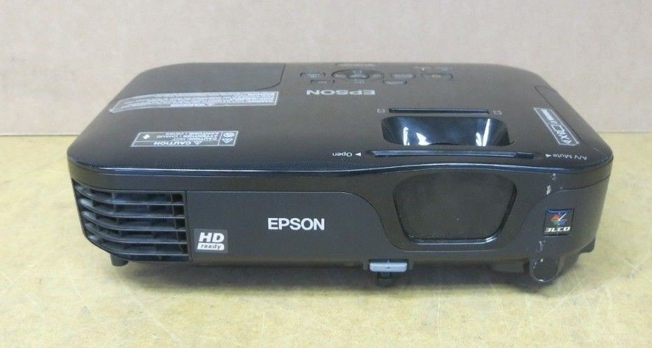Epson H475B Desktop Projector EH-TW480 HD Ready 720p 1280 x 720 16:9 With Remote