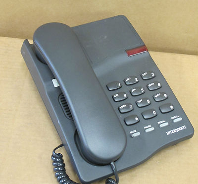 Interquartz Gemini Basic 9330 Black Corded Telephone Handset Table Top