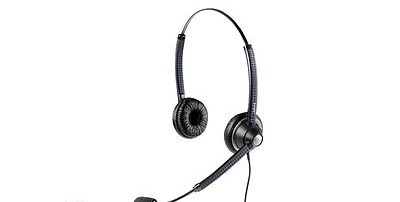 Jabra BIZ 1900DUO QD Binaural Noise Cancelling Corded Headset,Black,1989-820-104