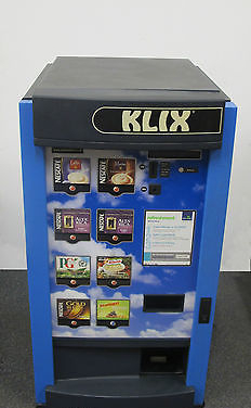Klix 450 - Hot & Cold Drinks / Soup 8 Drink Option Coin Operated Vending  Machine