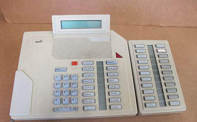 Meridian M2216D BTS Light Grey Telephone With Add On Feature Panel