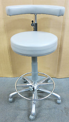 Murray Operators Assistant Dental Stool Half Moon Backrest Grey-730mm Height