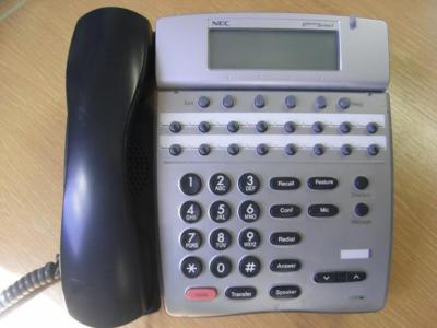 NEC DTERM series i DTR-16D-1U 16 BUTTON DISPLAY PHONE TELEPHONE