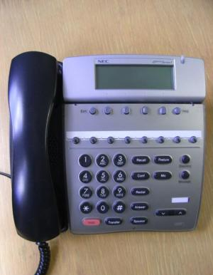 NEC DTERM series i DTR-8D-1U 8 BUTTON DISPLAY PHONE TELEPHONE