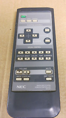 NEC RD-327 Backlight System Plasma Monitor Remote Control