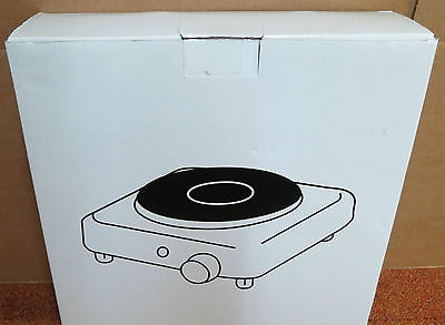 New Electric Portable Hotplate Hob Single Iron Boiling 1500w 220-240v RS GH9602