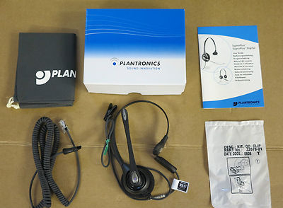 NEW Plantronics SupraPlus Telephone Phone Wired Headset D251N/A 39405-01