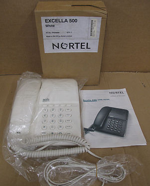 Nortel Excella 500/ Home Office Corded Telephone- White. 9541BH00J1