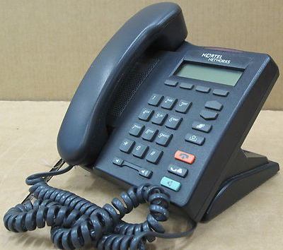 Nortel Networks IP Phone i2001 desktop Telephone NTDU90 - Black NTU90AA70