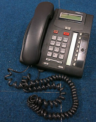 Nortel T7208 LCD Display 8-Button Charcoal Telephone Office Phone NT8B26AABL