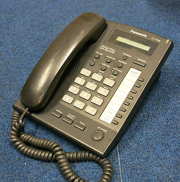 Panasonic KX-T7665E-B UK Digital LCD Display Single Line Corded Telephone