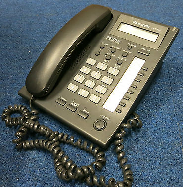 Panasonic KX-T7668UK-B UK Digital LCD Display Single Line Corded Telephone