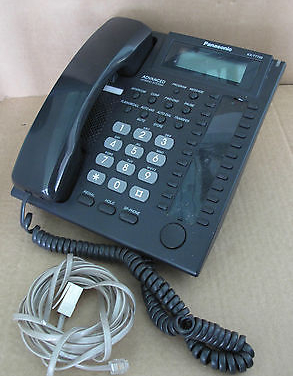 Panasonic KX-T7735E Black Advanced Hybrid Telephone phonew with LCD  KX-T7735E-B