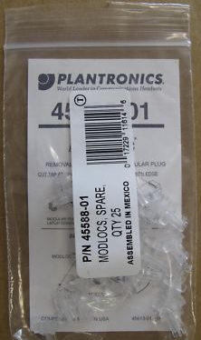 Plantronics Modlocs Pack Of 25 45588-01 - FREE UK DEL