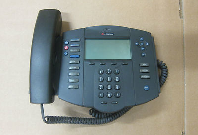 Polycom SoundPoint IP 500CS SIP VoIP Voice Over IP Phone 2201-11500-001
