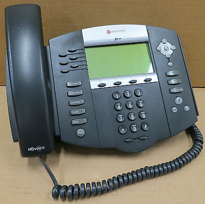 Polycom SoundPoint IP 650 IP650 Digital IP Phone HD SIP VoIP 2201-12630-001