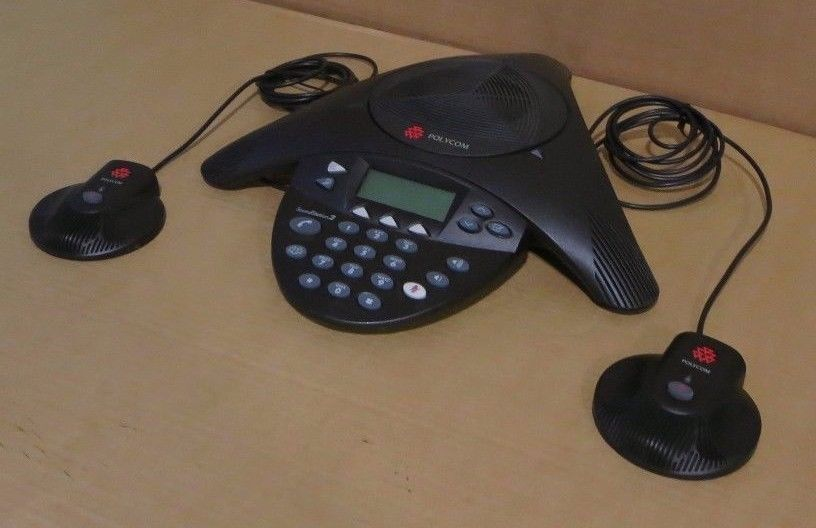 Polycom SoundStation 2 Conference Phone 2201-16200-601 Expandable + Microphones