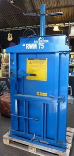 RWM 75 Compact Vertical Waste Baler Cardboard Paper Plastics Recycling Disposal