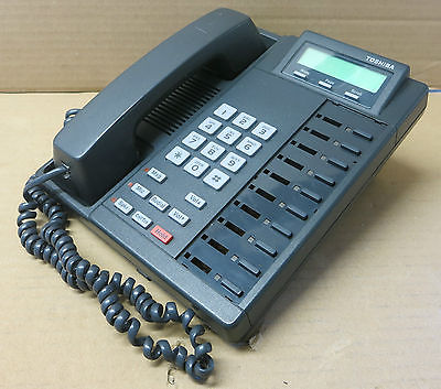 Toshiba DKT2010F-SD IP Black Corded Telephone Phone 10 key LCD Display Handset