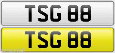 TSG 88  Vehicle Private Car Dateless Bike Number Registration Cherished Plate