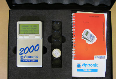 Vipdens 2000 colour reflection Densitometer Print Test Dot Gain Dot %, Trapping