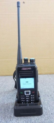 Zastone DP860 Digital Two Way Radio Walkie Talking With Desktop Chargring Stand